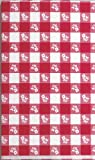 Creative Converting Plastic Stay Put Banquet Table Cover, 29 by 72-Inch, Red Gingham