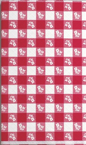- Creative Converting Plastic Stay Put Banquet Table Cover, 29 by 72-Inch, Red Gingham