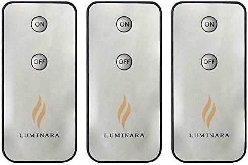 Luminara LED Flameless Candle Remote Control 3-Pack