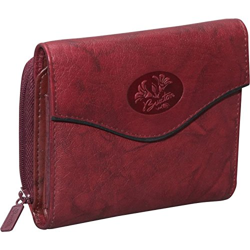 Buxton Heiress Leather Zip Purse (Burgundy)