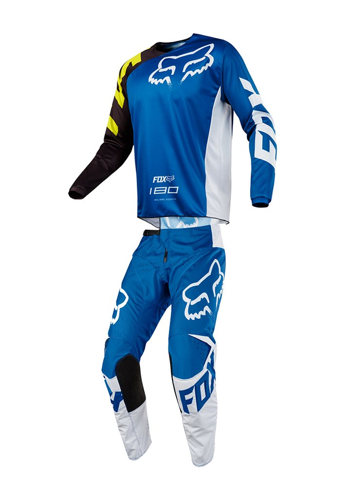Fox Racing 2018 Youth 180 Race Combo Jersey Pants ATV UTV MX Offroad Dirtbike Motocross Riding Gear Blue