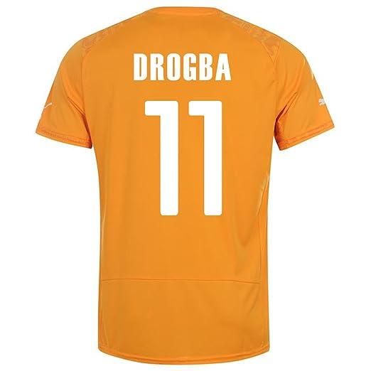 Amazon.com   PUMA DROGBA  11 IVORY COAST HOME JERSEY WORLD CUP 2014 ... ca8eb28ef