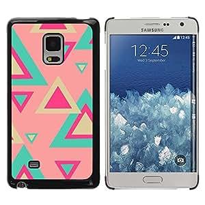 TopCaseStore / la caja del caucho duro de la cubierta de protección de la piel - Teal Pink Pastel Pattern Fuchsia - Samsung Galaxy Mega 5.8 9150 9152