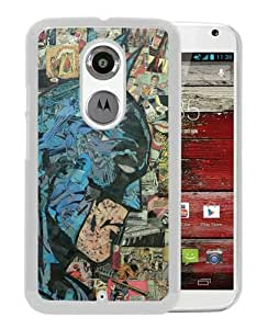 Retro Comic Batman White Popular Sell Customized Design Motorola Moto X 2nd Generation Case