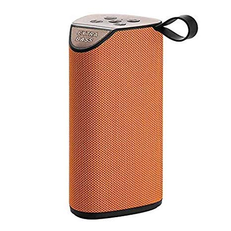 Vomoco DF58 Wireless Bluetooth Portable Speaker Mini Sound Bar with Fm/USB/Aux/ & Sd Card Support Compatible with All Devices (Random Color)