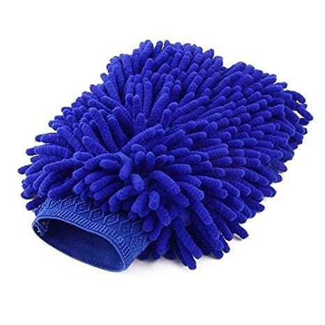 Amazon.com: Ventana Parabrisas eDealMax chenilla Inicio Alquiler de polvo de vidrio Lavado de limpieza de microfibra guante Azul: Health & Personal Care