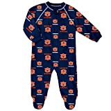 NCAA Auburn Tigers Newborn & Infant Raglan Zip Up Coverall, Dark Navy, 3-6 Months