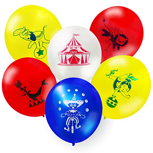 Set of 54 Circus Animals Balloons Carnival Theme Birthday Party Supplies Circus Themed Wedding Decorations 12