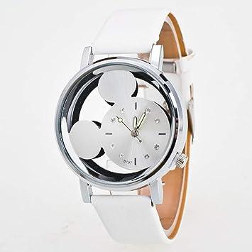 WATCHYA Reloj Deportivo Relogio Feminino Luxo 2018 Reloj para Dama con Cristales Relojes Mujer Lujo Cuarzo con Cuero Mickey Mouse Kad N Saatleri Nuevo 3#, ...