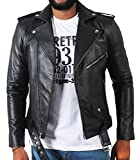 Laverapelle Men's Lambskin Real Leather Jacket Black - 1510398