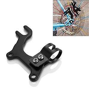 Cycling - Adjustable Bicycle Bike Disc Brake Bracket Frame Adaptor Mounting Holder - Pteridium Aquilinum Square Bracken- 1PCs