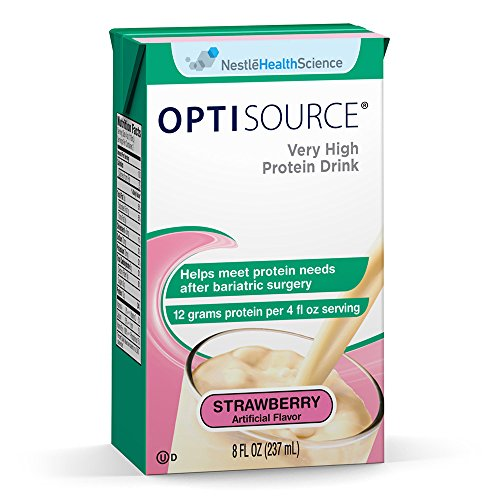 Optisource Very High Protein Drink, Strawberry, 8 fl oz Box, 27 Pack