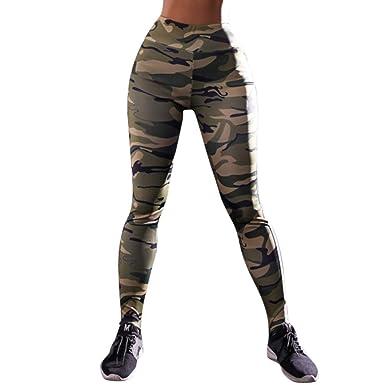 4b0558ed200ca Yoga Training Tights Sports Pants, Women Camouflage Leggings, High Waist  Side Stripes Yoga Pant