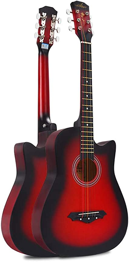 Miiliedy Guitarra acústica de 38 pulgadas Principiante Balada ...