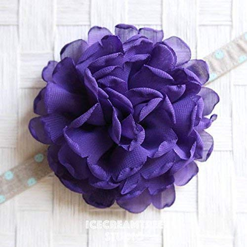 Giant Bloom Collar Slide On, Flower Collar Accessories, Corsage Accessories, Collar Add On - Lilac Purple