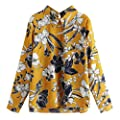 TWGONE Floral Blouses for Women Long Sleeve Plus Allover Print Boho Shirt Top