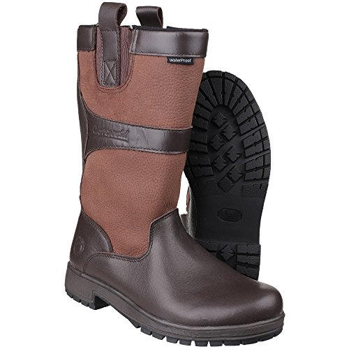 Cotswold Womens/Ladies Ascot Waterproof Pull on Wellington Boots Walnut