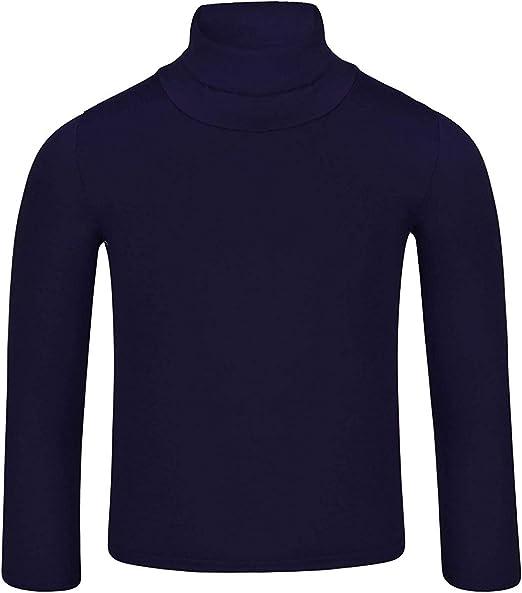 LotMart - Camiseta básica lisa de manga larga y cuello alto para ...
