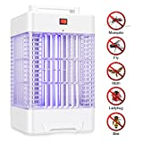 WloveTravel Bug Zapper Electric Mosquito Killer Fly Insects Trap With Powerful UV Bulbs Non Toxic Covers 6000 Sq. Ft Great for Indoor Outdoor