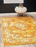 Unique Loom Sofia Collection Traditional Vintage Orange Area Rug (4' x 6')