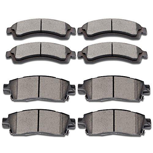 brake pads 8pcs ceramic disc brake pad