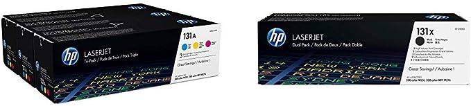 Hp 131 A Pack Of 3 U0sl1am Blue Red Yellow Original Ink Cartridge And Hp 131x Twin Pack Cf210xd Black Original Toner Bürobedarf Schreibwaren