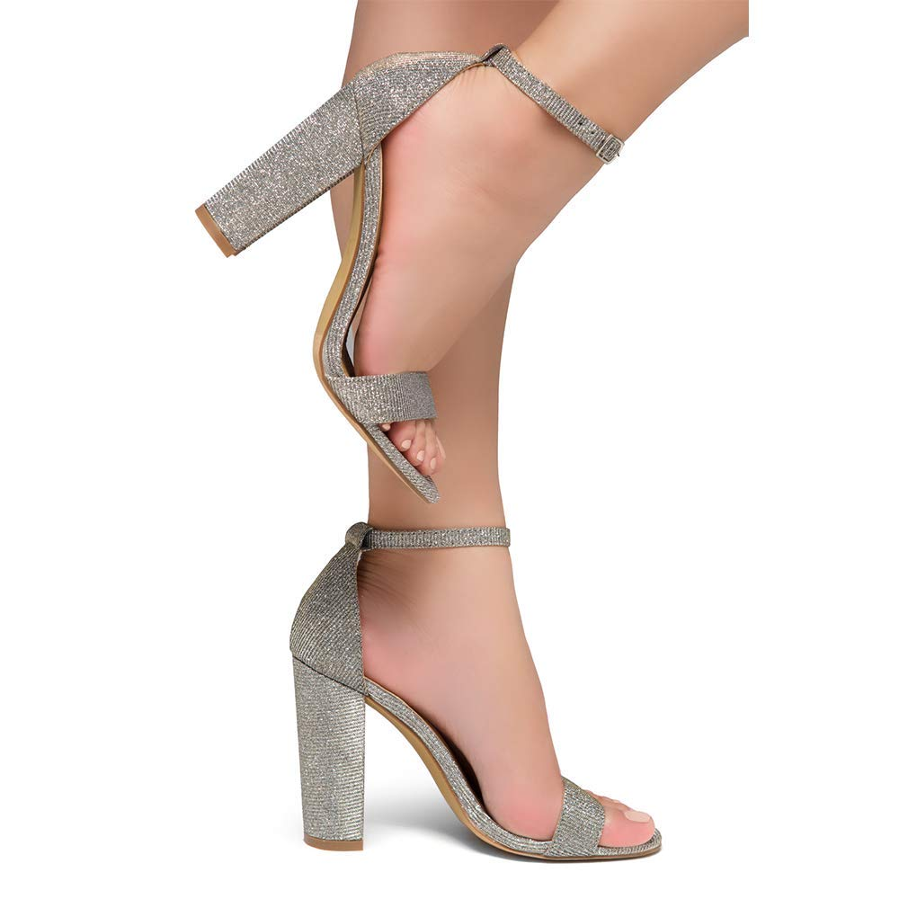 Herstyle Rosemmina Womens Open Toe Ankle Strap Chunky