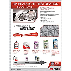 3M 39162 Headlight Renewal, 8 oz