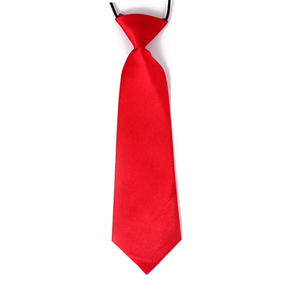 HDE Boy's Pretied Tie Solid Color Formal Fashion Necktie with Elastic Neck Strap HDE-N207