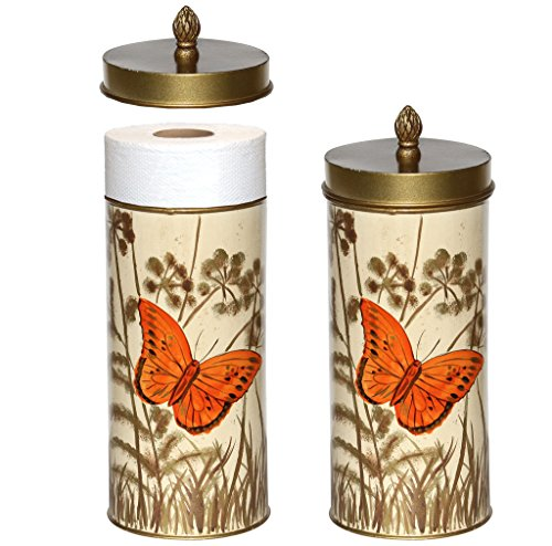Toilet Roll Storage Holder Decorative Butterflies