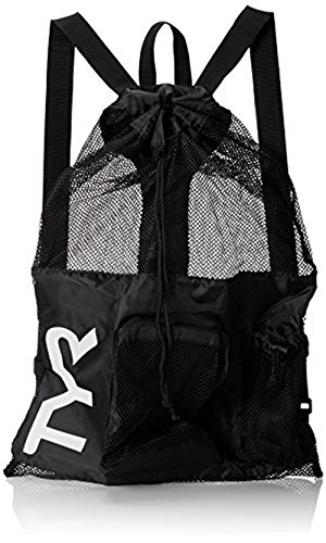 TYR Big Mesh Mummy Backpack, Black, 25-1/4