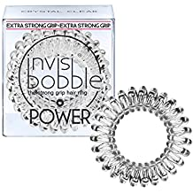 invisibobble Power Traceless Hair Ring, Crystal Clear