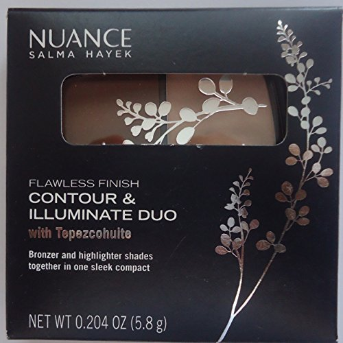 Salma Hayek Nuance Flawless Finish Contour & Illuminate Duo #530 Pearl Light & Shaded -