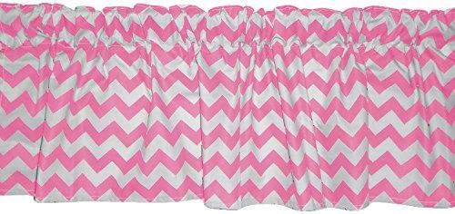 Baby Doll Bedding Chevron Dot Window Valance, Pink by BabyDoll Bedding