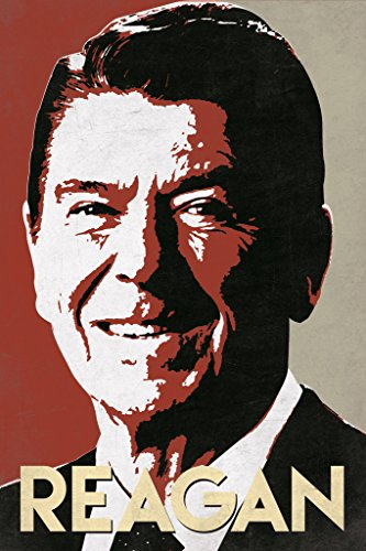 President Ronald Reagan Pop Art Portrait Poster 12x18