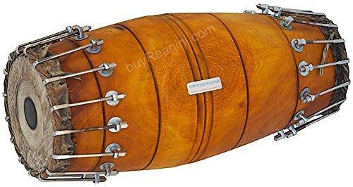 Maharaja Musicals Mridangam, Jack Fruit, South Indian Mridangam Instrument, Bolt-tuned, Tuneable To D Sharp, Includes Drumhead Covers and Nylon Bag, Mridanga/Mridangam Drum -