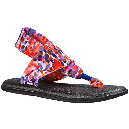 Sanuk Womens Yoga Sling 2 Prints Sandal America Rain Size 7