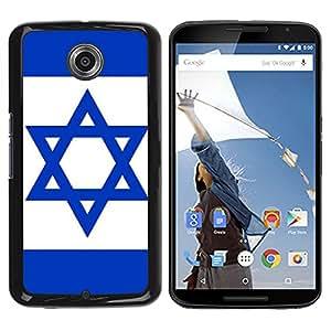 - Israeli flag - - Monedero pared Design Premium cuero del tir¨®n magn¨¦tico delgado del caso de la cubierta pata de ca FOR Google Nexus 6 & Motorola Nexus 6 Funny House