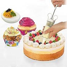 artale Cake Decorating Syringe Plunger Dessert Cream Decorator Deviled Eggs Gun/Kit Baking Tools Puff Decorating Mouth with 8 Icing