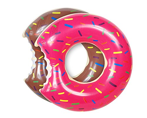 UCLEVER 2 Packs Donut Pool Float Inflatable Swimming