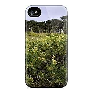 Premium The Cypress On The Western Edge Of San Francisco Back Cover Snap On Case For Iphone 4/4s