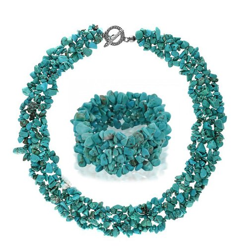 Bling Jewelry Reconstituted Turquoise Necklace product image