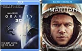 Surviving Space Double Feature: Ridley Scott's The Martian & Alfonse Cuaron's Gravity with 3-D 2-Movie Blu-ray Bundle