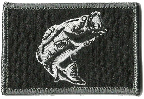 Tactical Wildlife Largemouth Bass Patch - Black