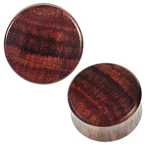 Wood Plug brown naturally textured tunnel Tribal Expander Organic Ear Plug - Good Naturally Net
