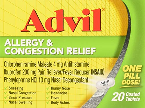 Advil Allergy & Congestion Relief 20 Coated Tablets