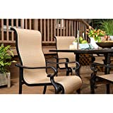 Hanover Brigantine 7-Piece Outdoor Dining Set with Cast-Top Table