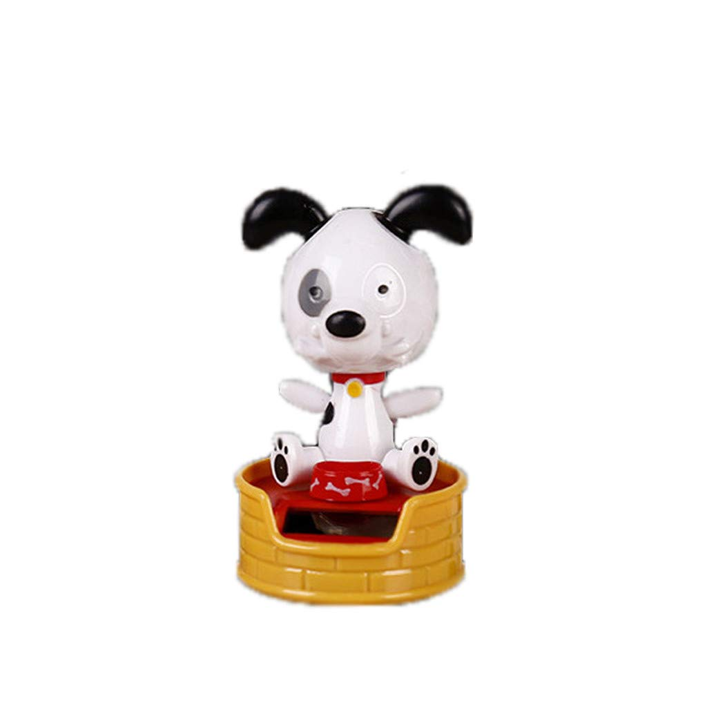 Automotive Home Car Interior Display Decor Juesi Bobble Head Dog Toy Solar Powered Car Decoration Dancing Dog Swinging Animated Dancer Toy for Kids Shaking Head Toy