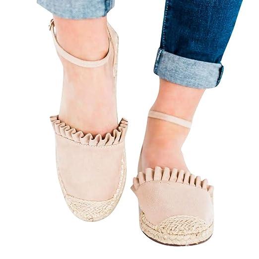 a110402ace0df Amazon.com: Women's Retro Sandals Shoes - Casual Buckle Ankle Strap ...