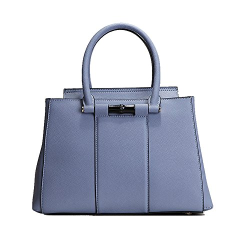 Kattee Ladies Cool Summer Series Leather Satchel Handbag Light Blue